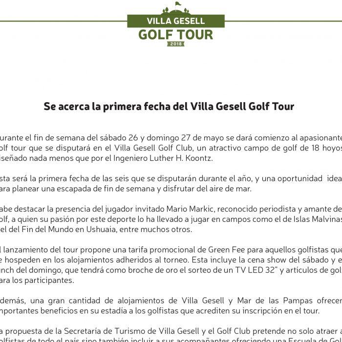 Gacetilla Golf Tour